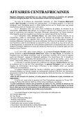 Extrait du livre Affaires Centrafricaines - Sangonet - Page 2
