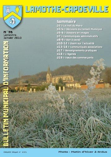 Communiqués Associations - Ville de Lamothe-capdeville