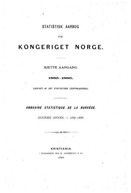 Statistisk årbok 1885-1886