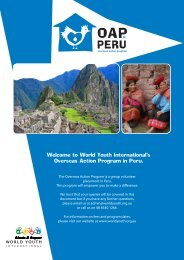 Educate & Empower Welcome to World Youth International's ...