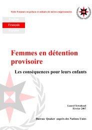 Femmes en détention provisoire - Quaker United Nations Office