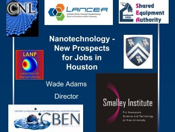 Nanotechnology - Center for Nanoscale Science and Technology ...