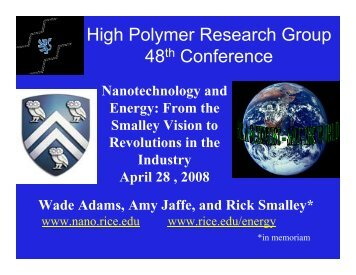 High Polymer Research Group 48th Conference - Center for ...