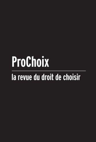 Pour télécharger le numéro - Prochoix