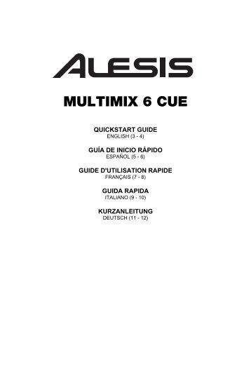 Multimix 6 Cue - Quickstart Guide - RevB - American Musical Supply