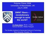 SWNT fibers - Center for Nanoscale Science and Technology - Rice ...