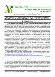 Anatomie comparée AVF A5 - Association Végétarienne de France