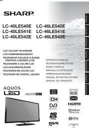 LC-40/46LE540E/LE541E/LE542E Operation-Manual FR - Sharp
