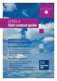 Graduate diploma - The Chartered Institute of Purchasing and Supply