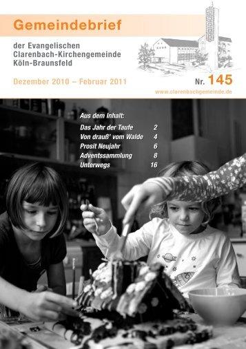 Gemeindebrief 145 - Evangelische Clarenbach-Kirchengemeinde ...