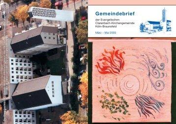 Gemeindebrief - Evangelische Clarenbach-Kirchengemeinde Köln ...