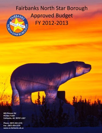 Fairbanks North Star Borough Approved Budget FY 2012-2013