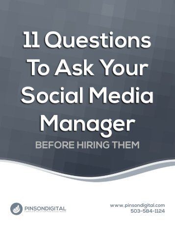 11 Questions to ask your social media consultant - before hiring them
