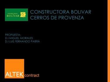 CONSTRUCTORA BOLIVAR CERROS DE PROVENZA