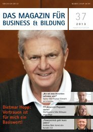 Das Magazin für Business und Bildung 2013