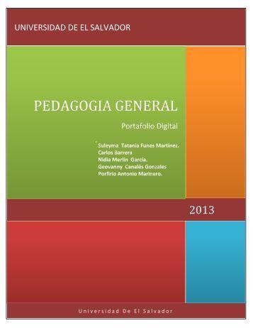 PEDAGOGIA GENERAL