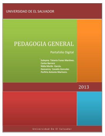 PORTAFOLIO PEDAGOGIA