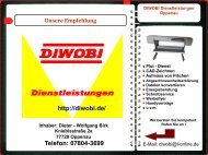 Web Visitenkarte DIWOBI Dienstleistungen