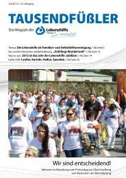 2013 Juli / Lebenshilfe Freising / Tausendfüßler-Magazin