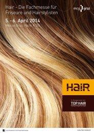 Hair - Die Fachmesse für Friseure und Hairstylisten 5. - 6. April 2014
