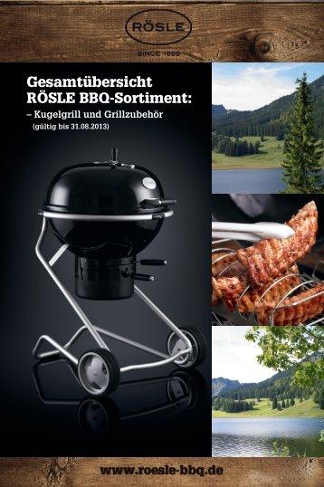 Gesamtübersicht RÖSLE BBQ-Sortiment: 2013