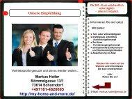 Web Visitenkarte Hailer Markus Vertriebsprofi gesucht