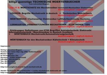 Fachliche Woerterbuecher zweisprachig kfz mechatronik