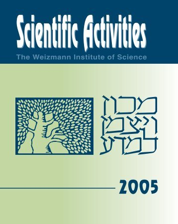 Scientific Activities - Weizmann Institute of Science