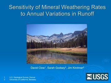 Mineral Weathering in Loch Vale - Colorado