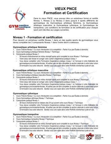 VIEUX PNCE Formation et Certification