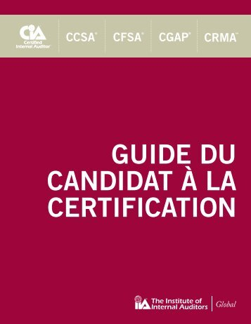 guide du candidat à la certification - The Institute of Internal Auditors