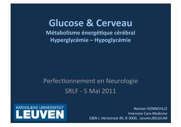 Glucose & Cerveau - SRLF