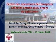 Centre des opérations de transports collectifs certifié LEED ... - FCM