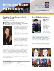 International Business Department Newsletter Spring 2011