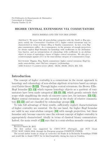 PDF file - Departamento de Matemática - Universidade de Coimbra