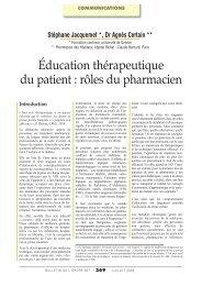 Education thérapeutique du patient : rôles du ... - Pace Aquitaine