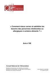 Avis n°66 - cna-alimentation