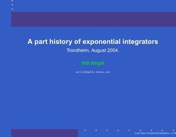 A part history of exponential integrators - NTNU