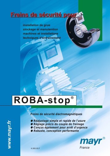 ROBA-stop® frein de sécurité électromagnétique - Transmission ...