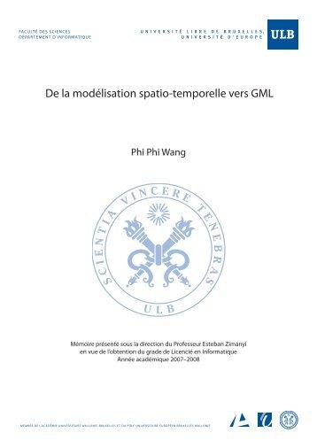 De la modélisation spatio-temporelle vers GML - CoDE - de l ...
