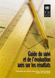 Guide du suivi et de l'évaluation axés sur les résultats