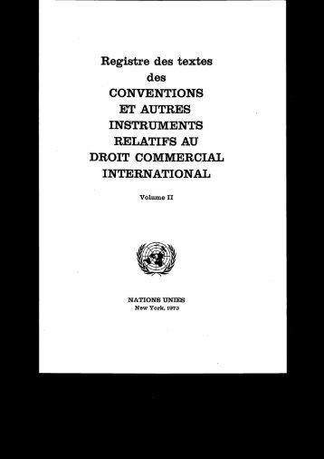 Registre des textes des CONVENTIONS ET AUTRES ... - uncitral