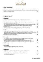 Télécharger la carte du restaurant - MGallery
