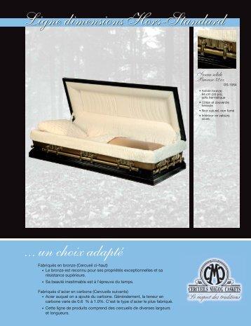 Ligne dimensions Hors-Standard - Cercueils Magog Caskets