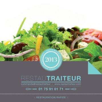 voir le menu restauration rapide - RestauTraiteur