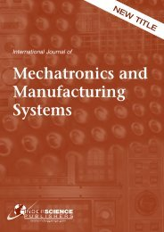 Mechatronics and Manufacturing Systems - Rutgers University