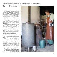 Distillation dans la Courtine et le Petit-Val : l'art et la manière - aspruj