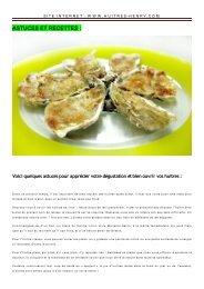 Nos recettes au format PDF - Huîtres Henry
