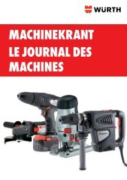 MAchinekrAnt le journAl des MAchines - Wurth