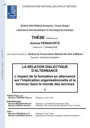 La relation dialectique d'alternance: l'impact de la formation en ...